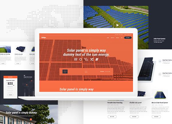 Solar Panels Bridge Theme Demo