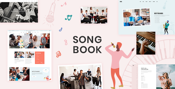 SongBook - Music School Theme