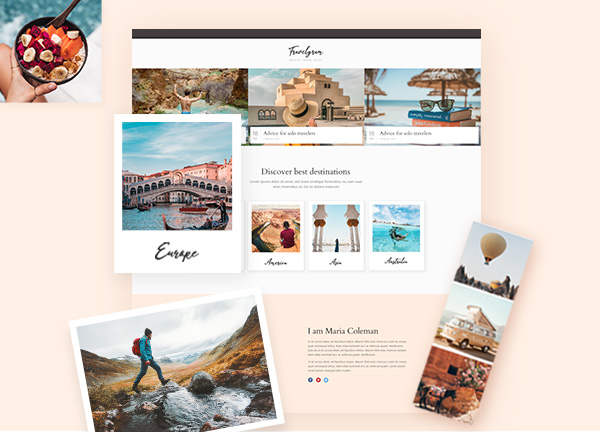 Travel Blogger Bridge Theme Demo