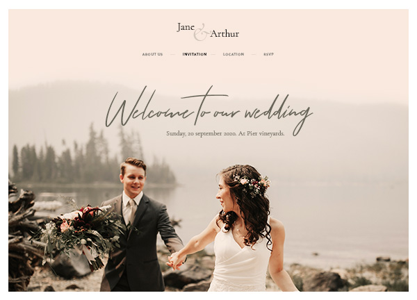 Wedding Invite Bridge Theme Demo