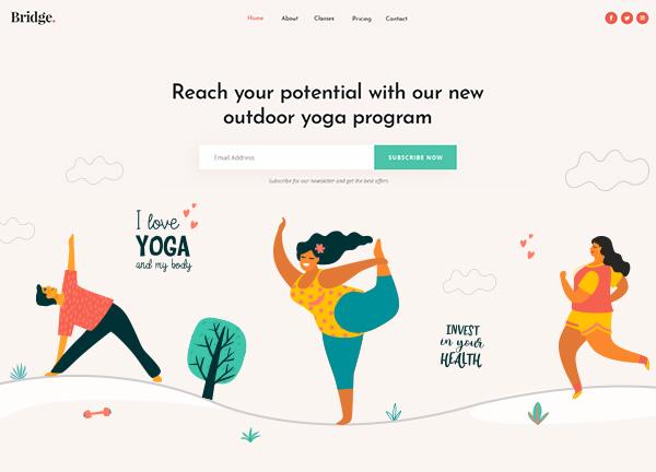 Yoga and Pilates Bridge Theme Demo