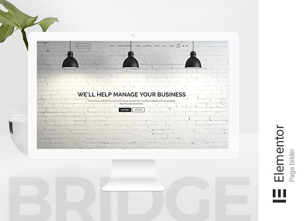Bridge Original Elementor Bridge Theme Demo