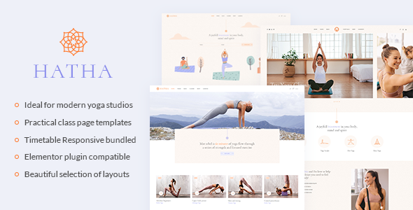 Hatha - Yoga WordPress Theme