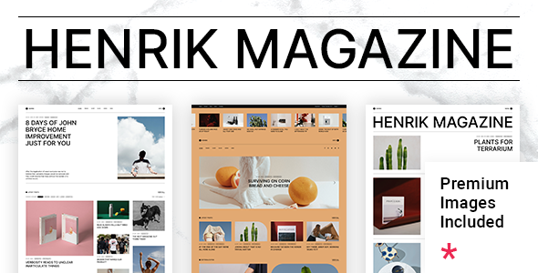 Henrik WordPress Theme